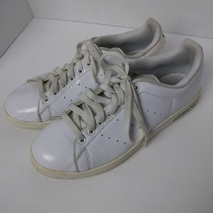 Adidas Stan Smith White Patent Leather Sneakers. 8